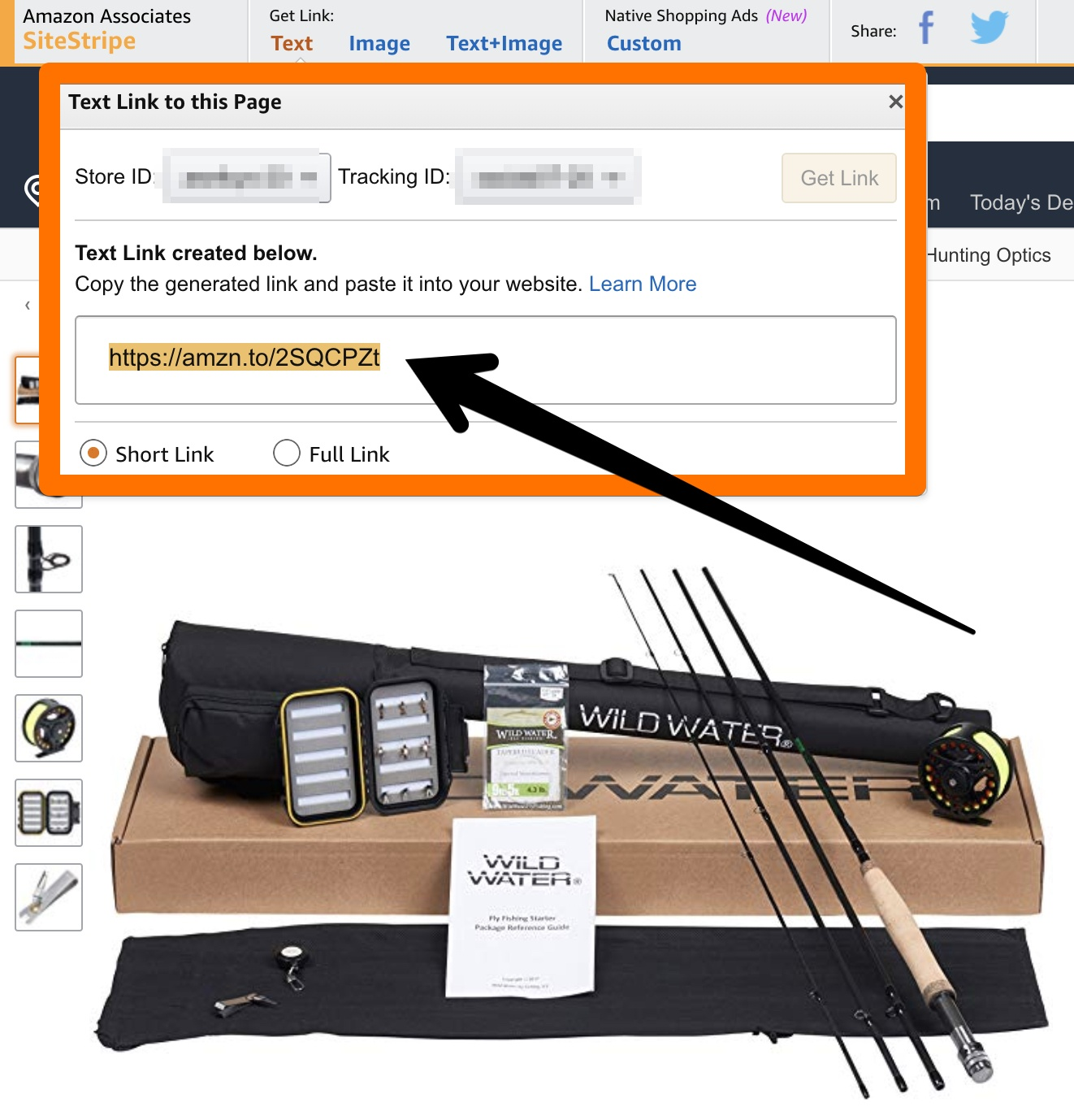 finding my affiliate links on amazon
