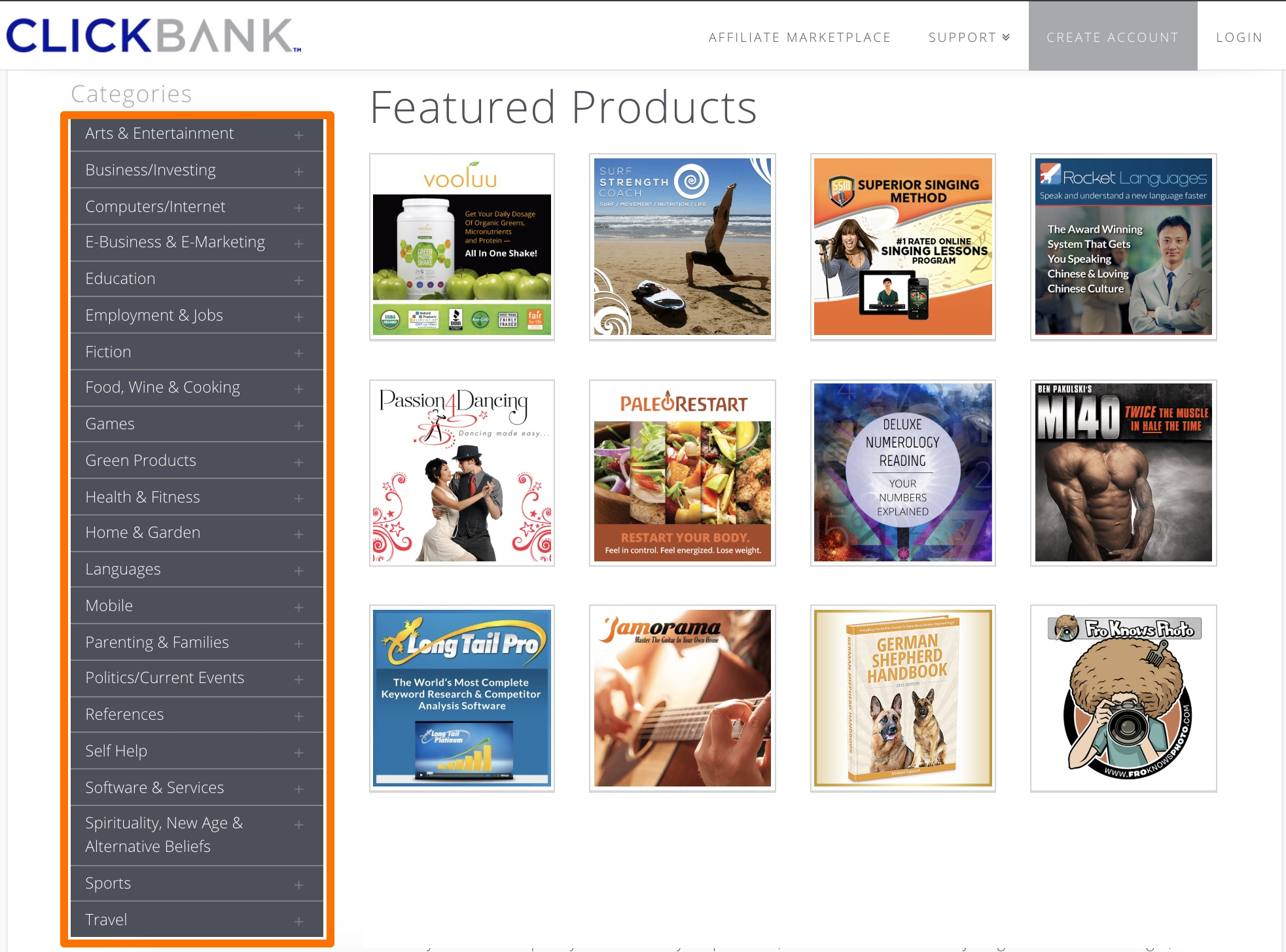 the clickbank marketplace