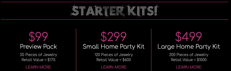 Paparazzi jewelry starter kits