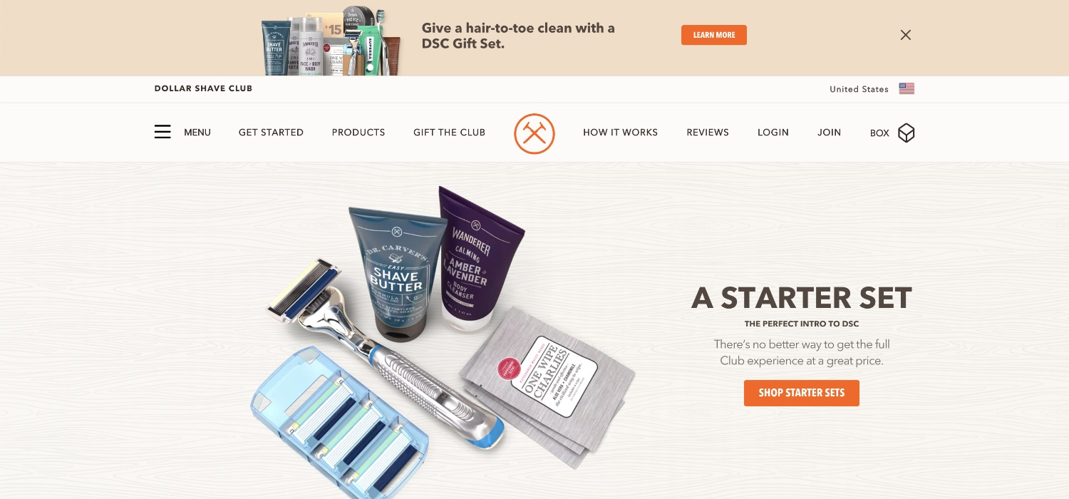 dollar shave club is a niche example