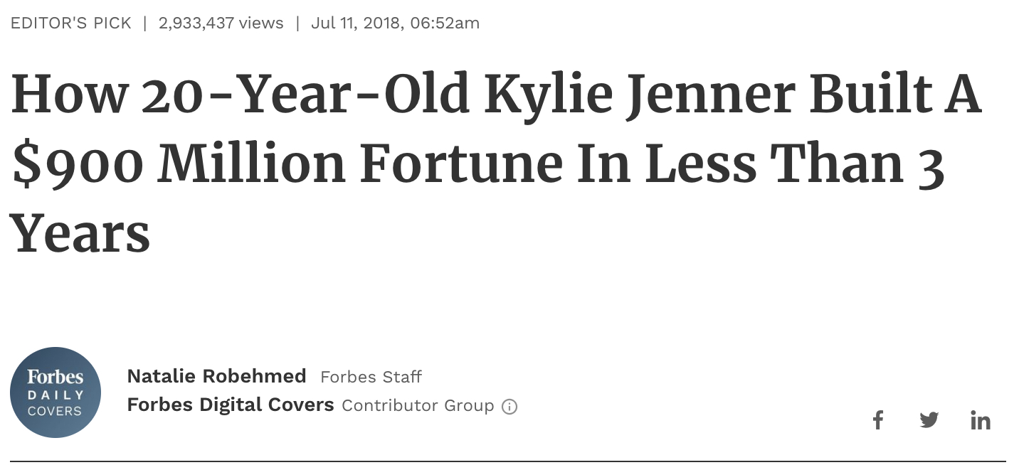 kyle jenner personal brand