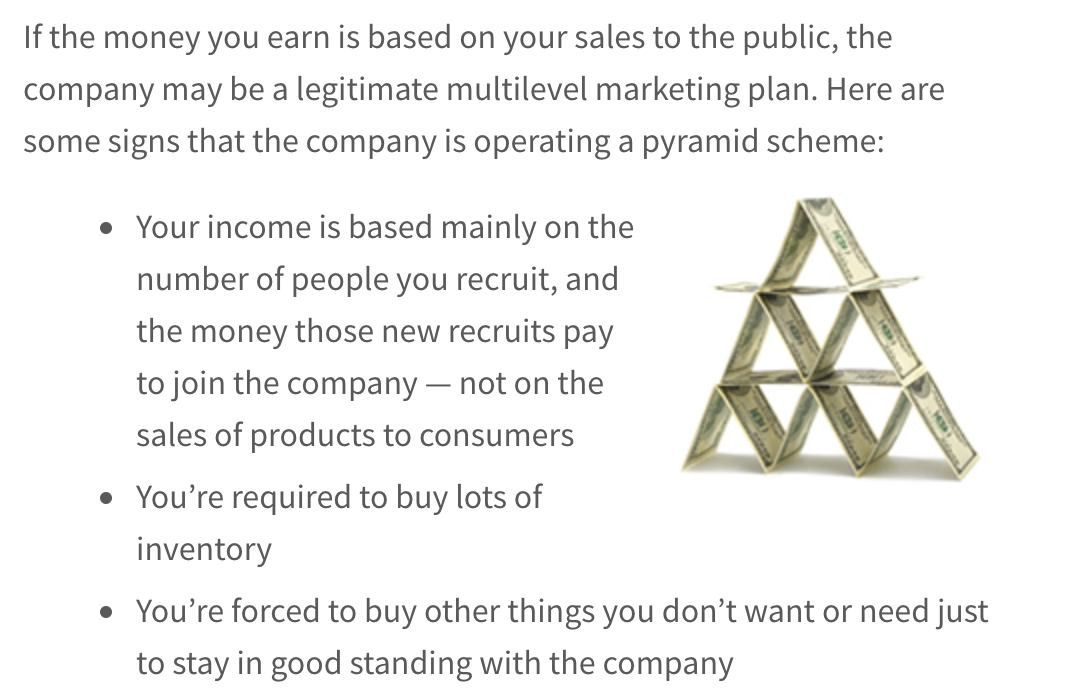 pyramid scheme explained by the ftc