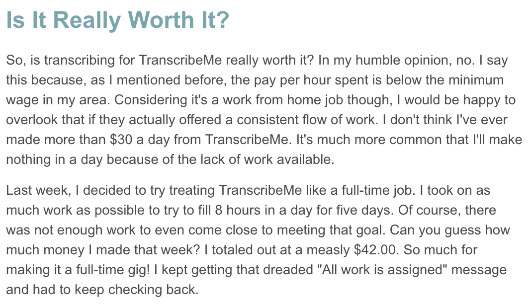 transcribeme reviews
