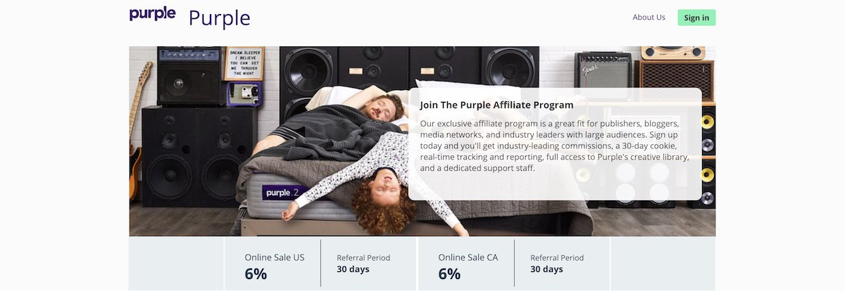 Purple affiliate program