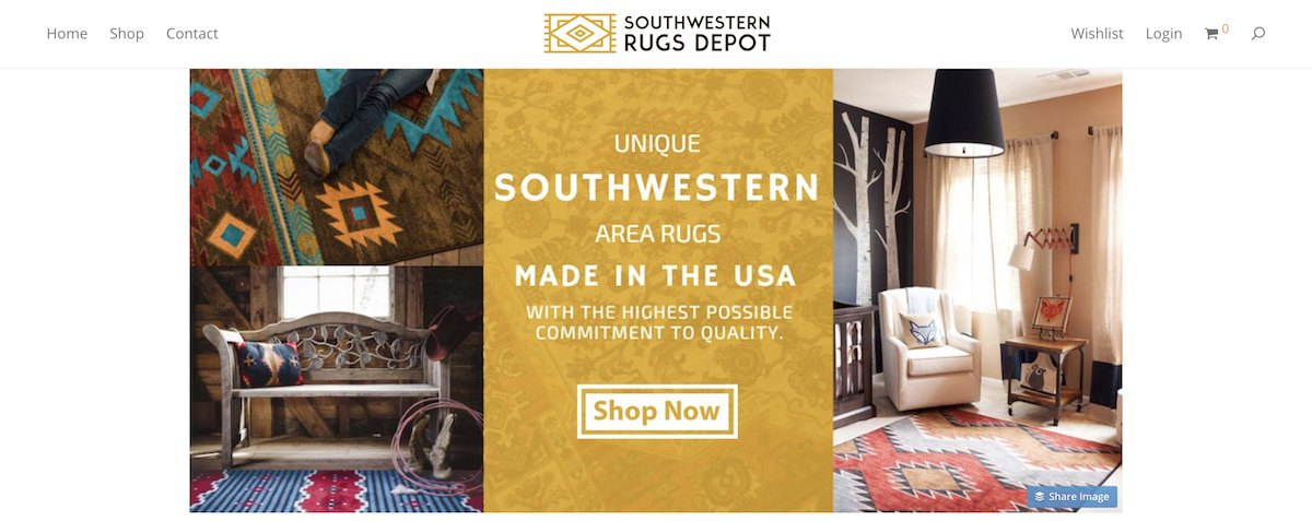 Southwestern Rugs depot affiliate program