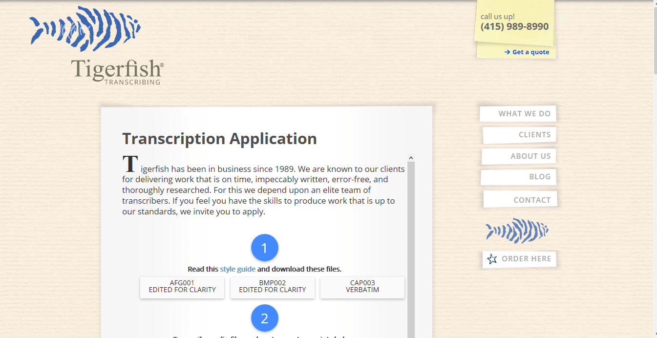 TiferFish Application Form