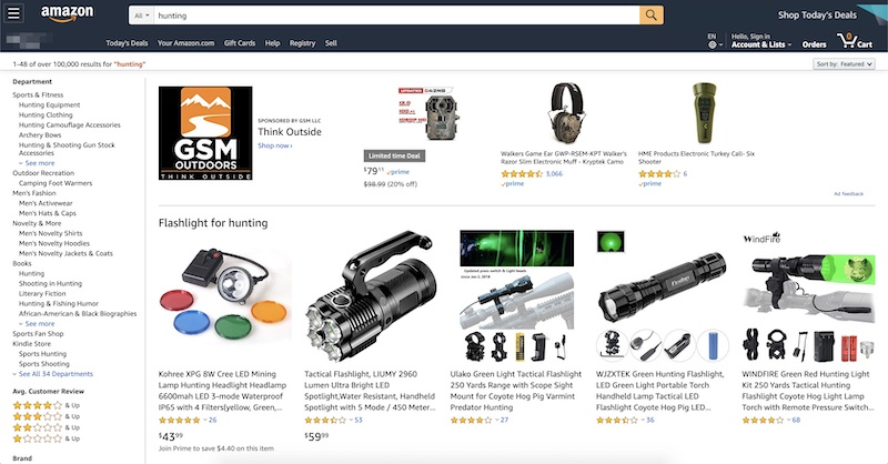 amazon hunting affiliate program