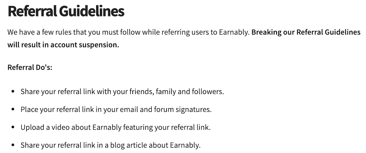 earnably referral program