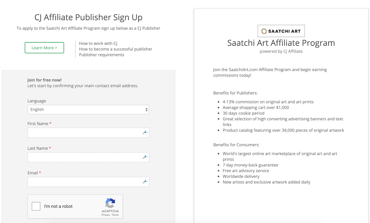 saatchi art affiliate program