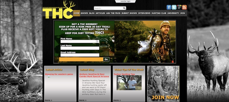 the hunting channel affiliate program