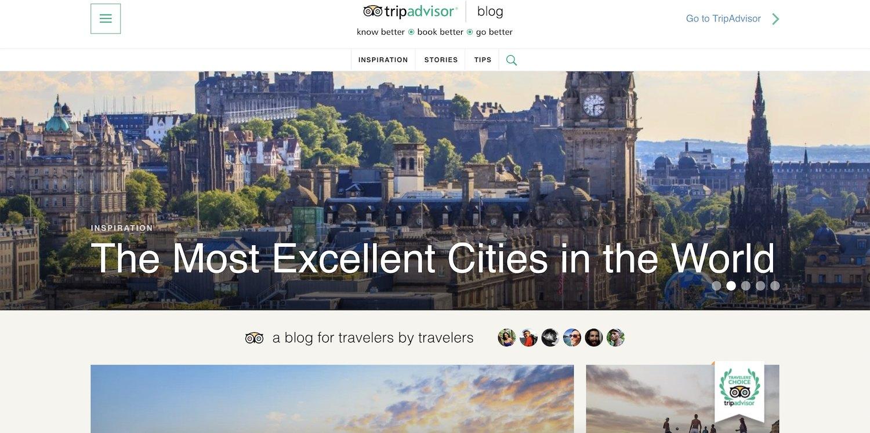 the TripAdvisor blog