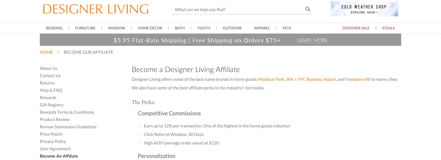 Designer Living Affiliate Program