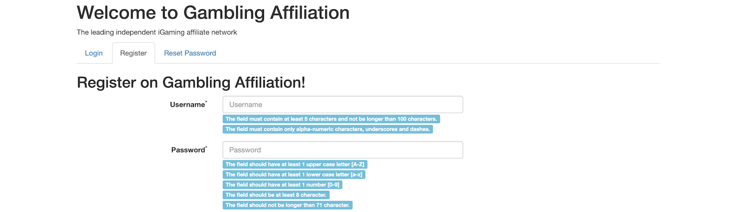 Gambling Affiliation Affiliate Program