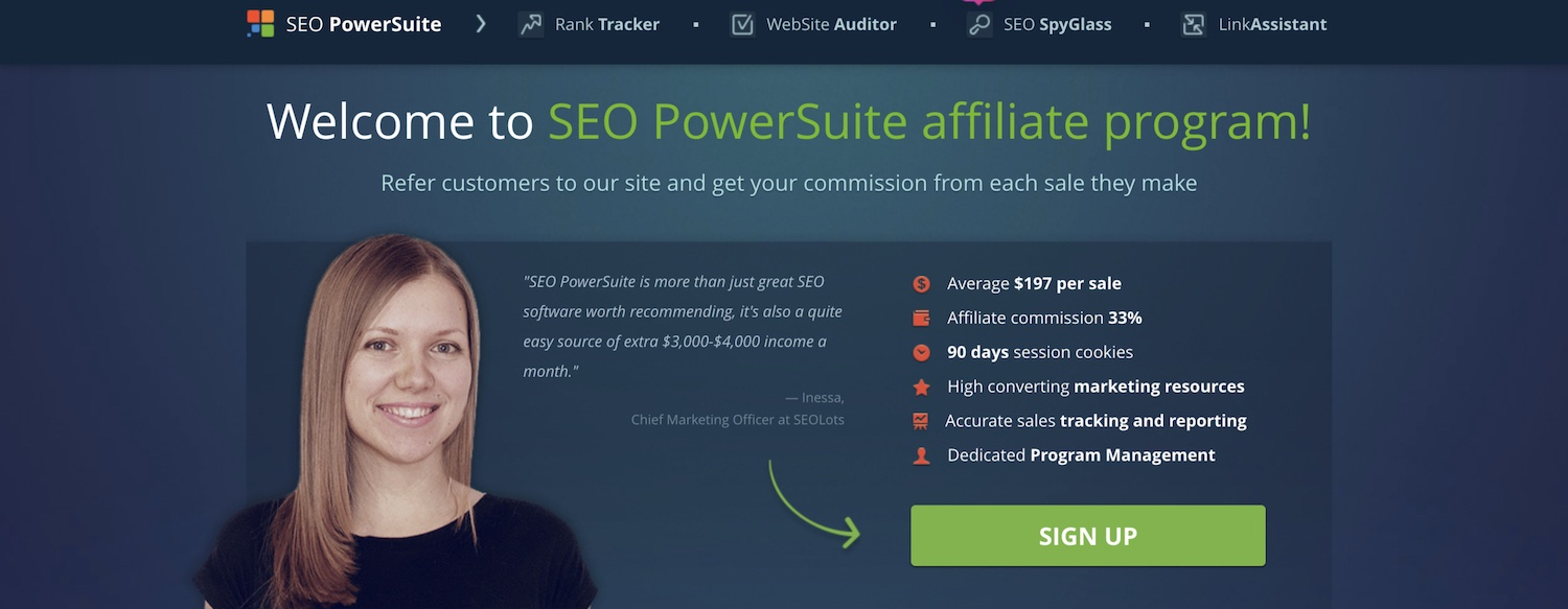 SEO Powersuite affiliate program