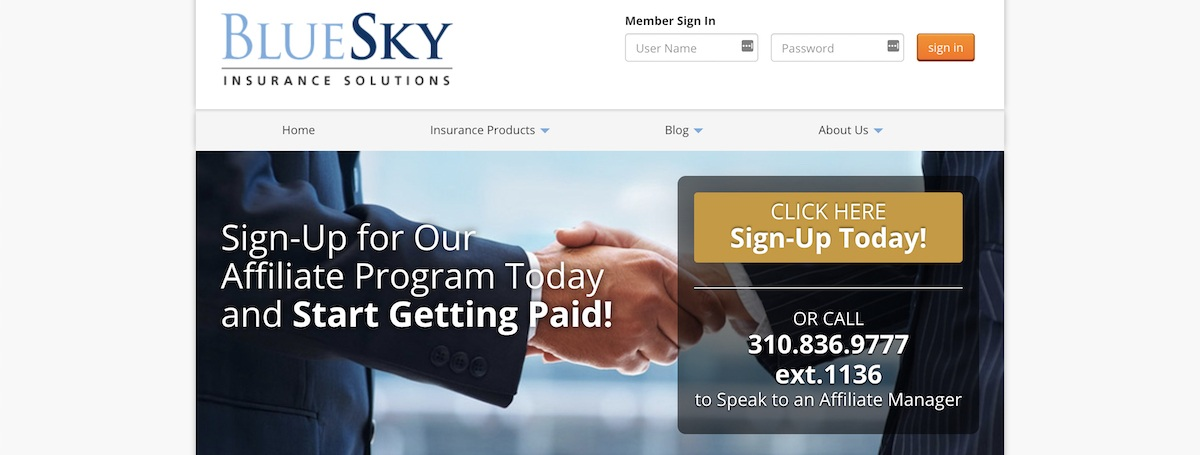 BlueSkyCoverage Affiliate Program