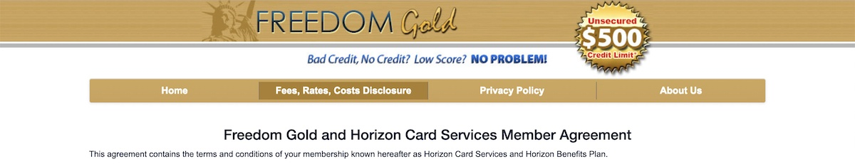 Freedom Gold Card Affiliate Program