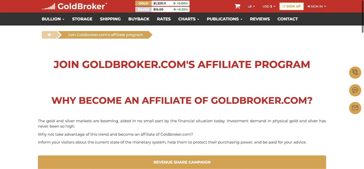 goldbroker affiliate program