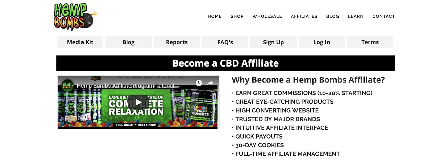 hemp bombs CBD Affiliate Program