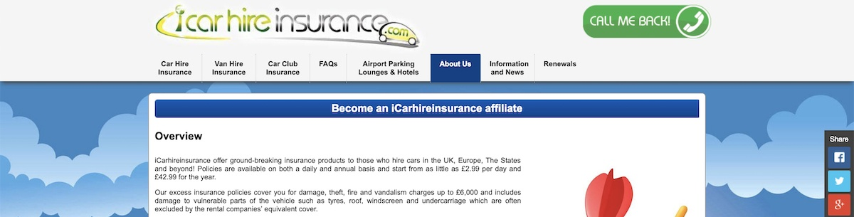 iCarHireInsurance Affiliate Program