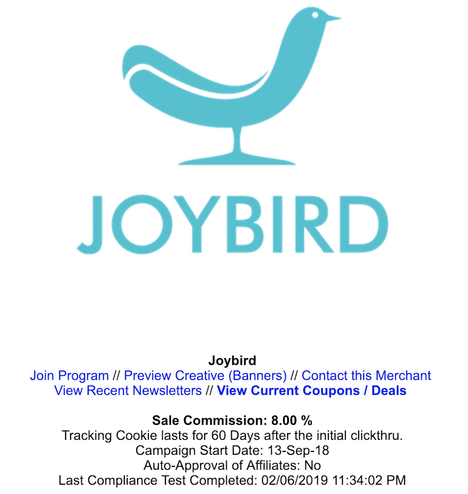Joybird Affiliate Program