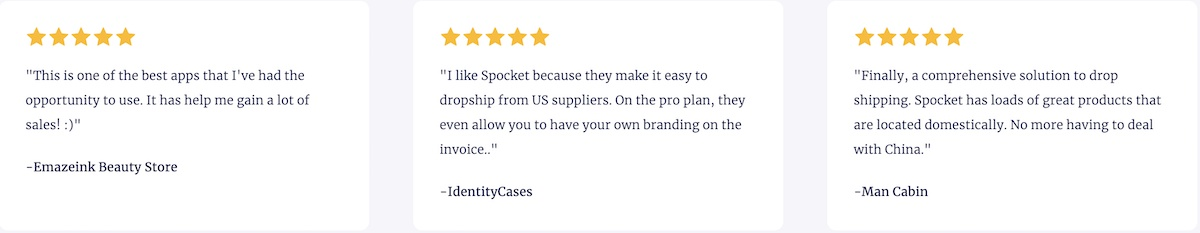 spocket customer reviews
