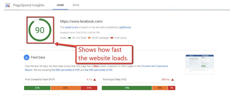 how to see your page speed