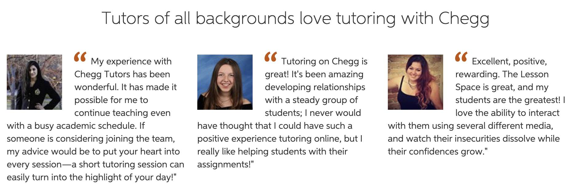 chegg tutors review from current members