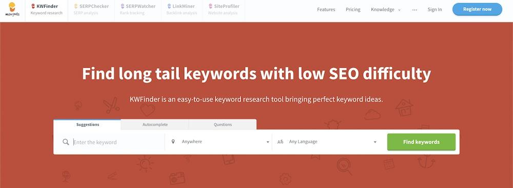 kwfinder keyword tool