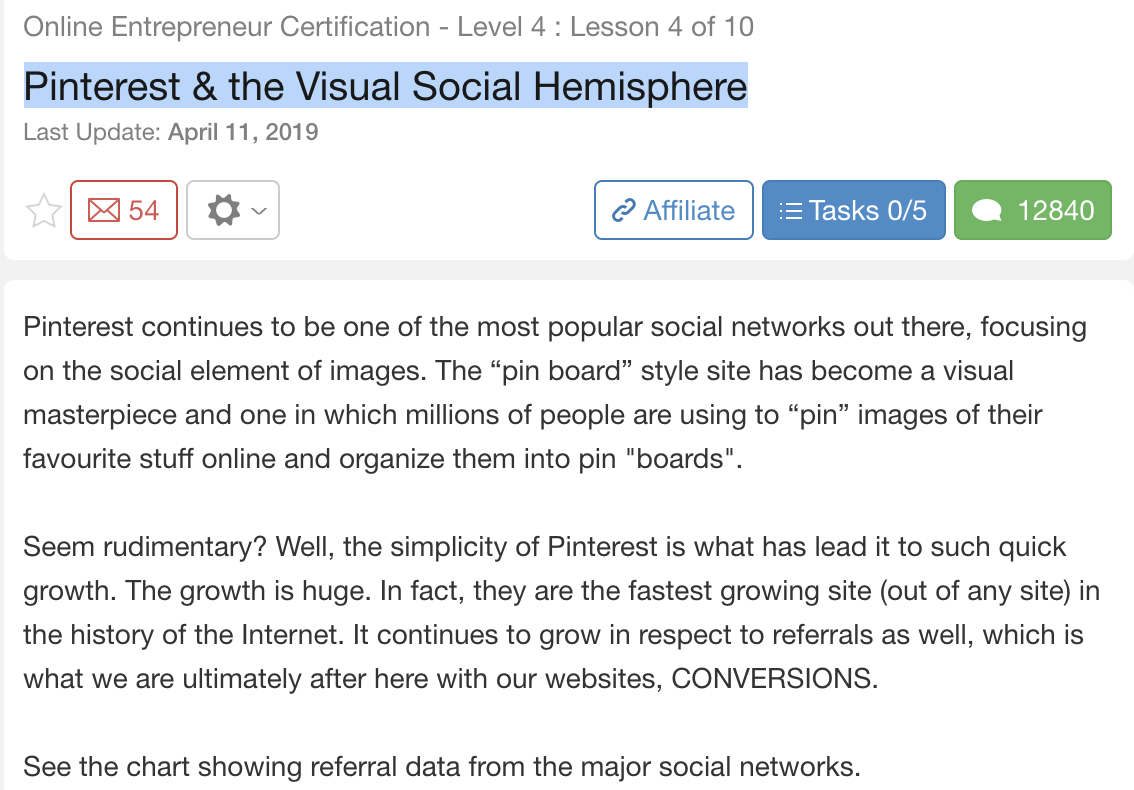 pinterest social engagement course