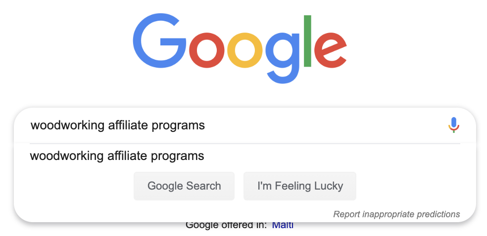 how to search google for affiliate programs