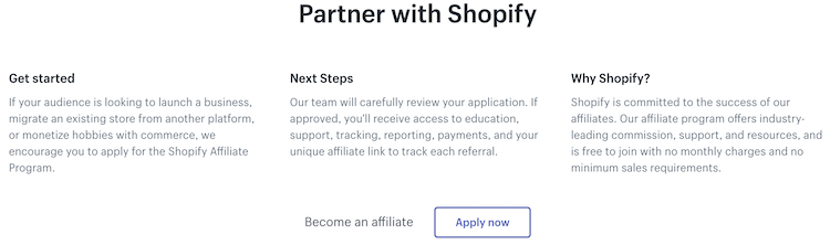 partner up with shopify