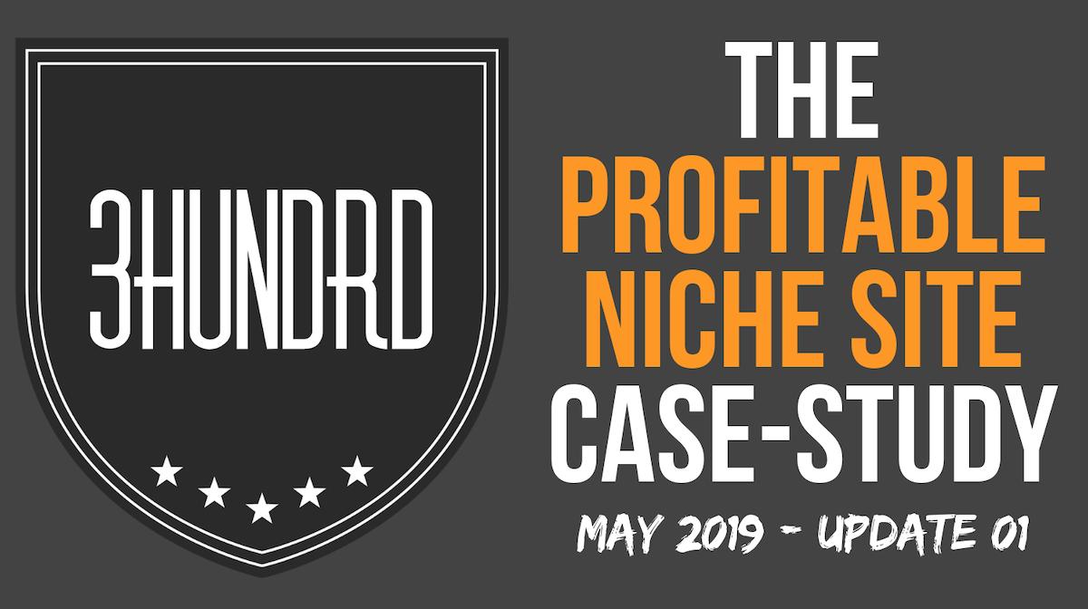 profitable niche site case study update 01