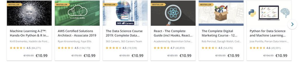 udemy courses prices