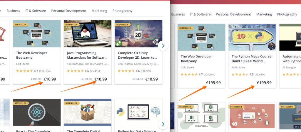 udemy discounts fake