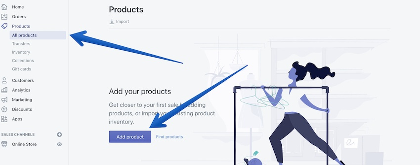how to add products to your shopify store