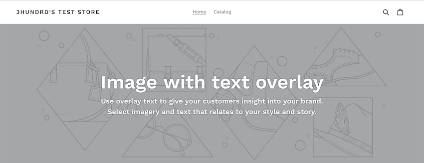 shopify default theme