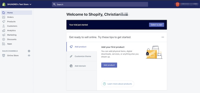 starting a brand new store with Shopify