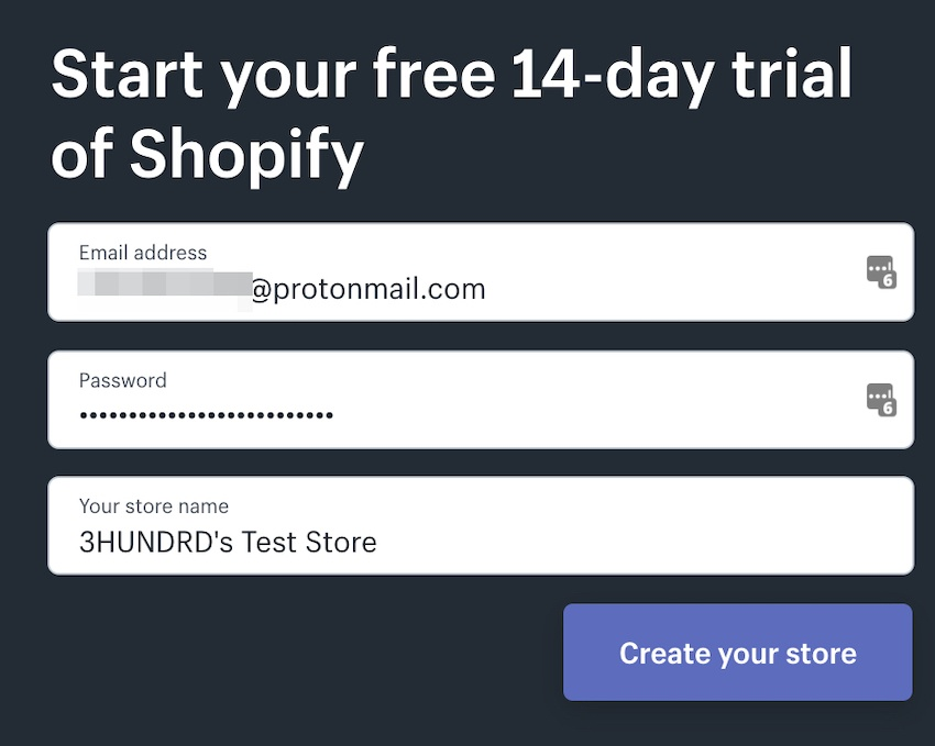 starting a store with shopify