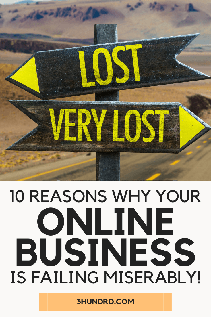 10 reasons why your online business is failing