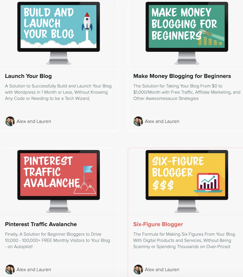 4 courses in 1 inside problogger bundle