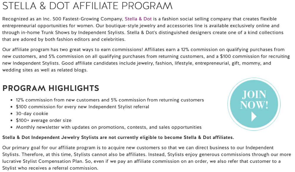 how to make money with the stella and dot affiliate program