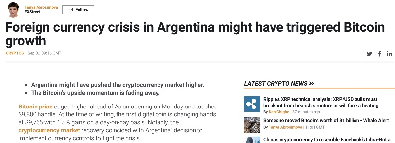 bitcoin in recession in argentina