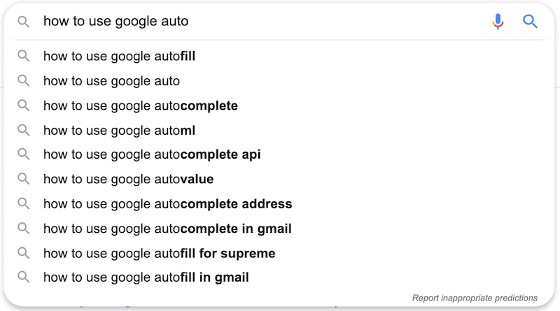 how to use google autosuggest