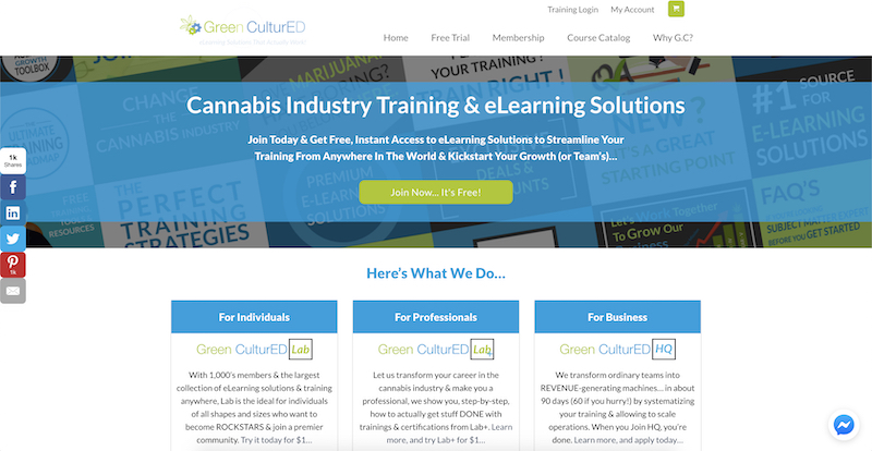 Green Cultured cannabis affiliate program