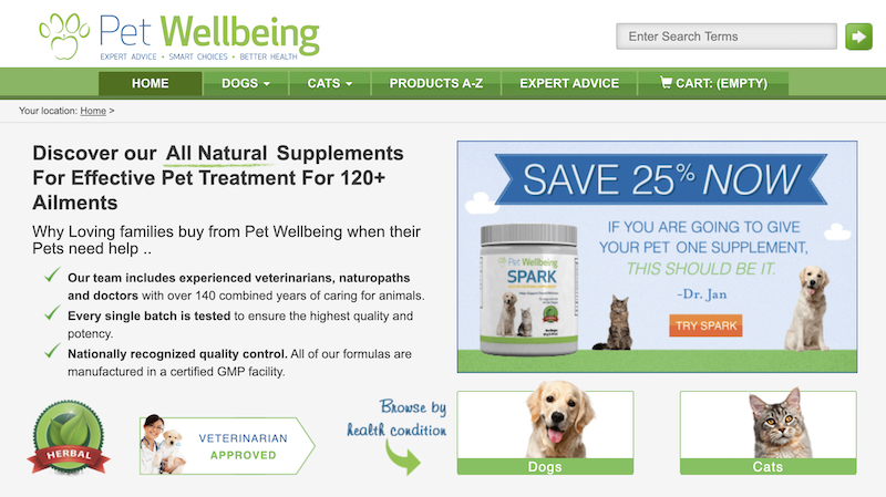 Pet well being affiliate program