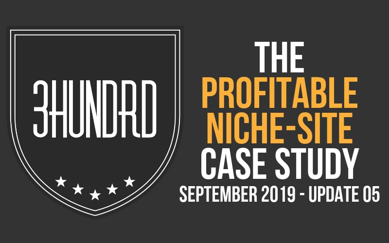 The Profitable Niche Site Case Study Update 5