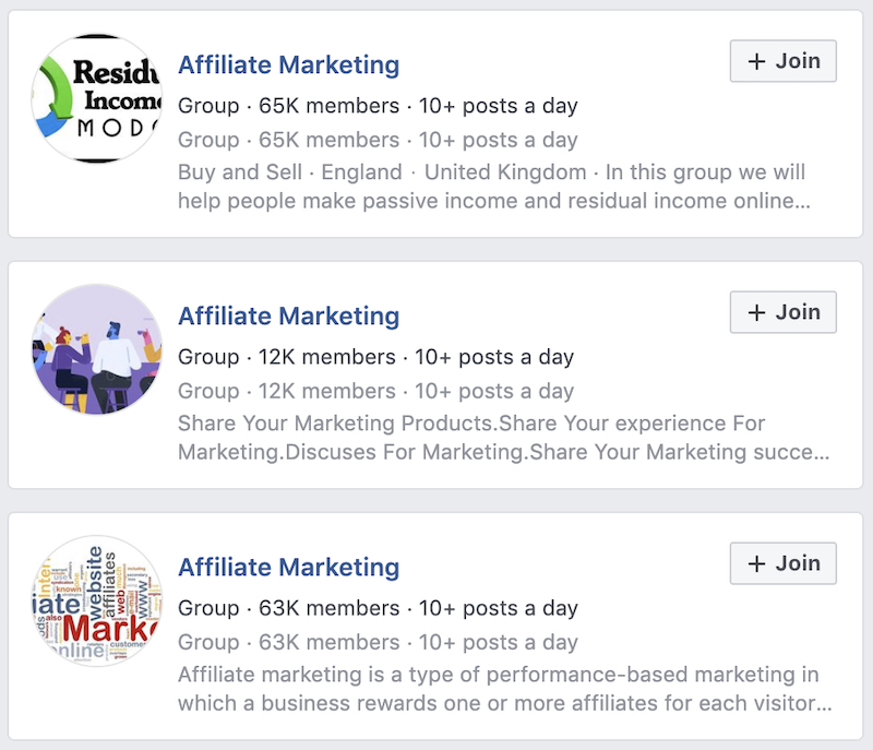 find an affiliate marketing mentor on facebook