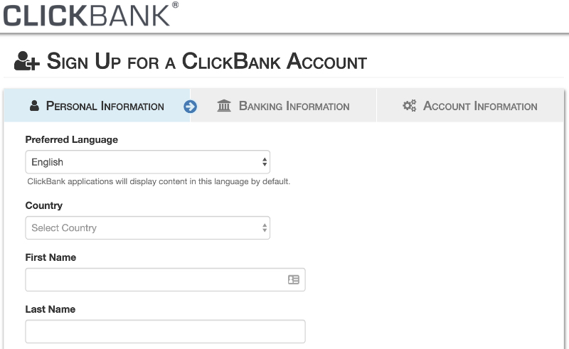 how to create a clickbank account