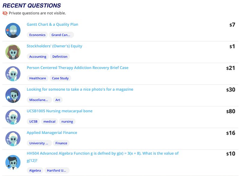 studypool questions