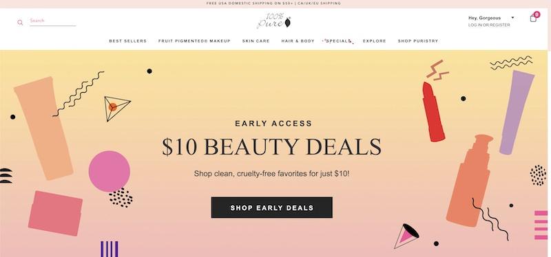 100 pure vegan Beauty Products affiliate program
